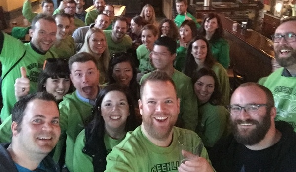 Green Line Bar Crawl  T-Shirt Photo