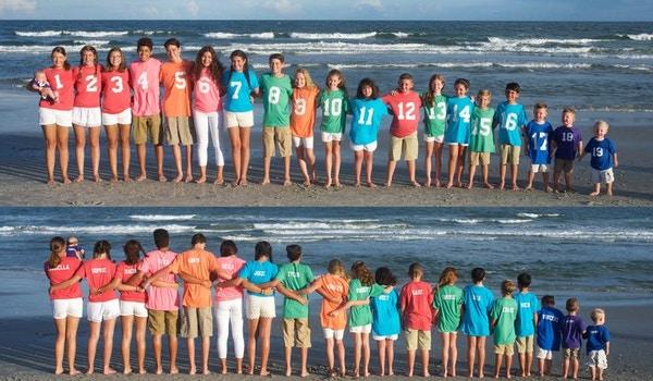 The Grandkids Take The Beach T-Shirt Photo