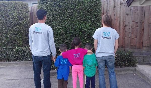 707 Fence Company Family T-Shirt Photo
