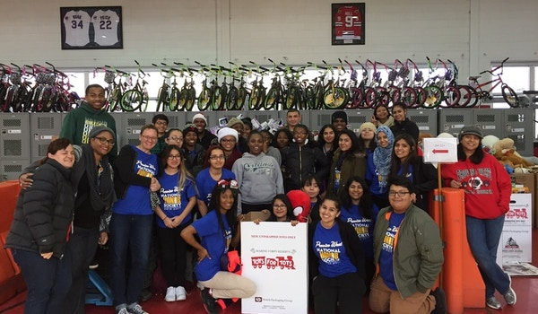 Proviso West Nhs Visits Toys For Tots T-Shirt Photo