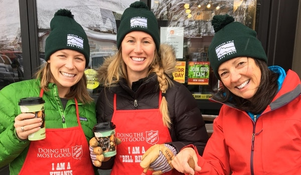 Jackson Hole Land Trust Staff At Salvation Army Bell Ringing T-Shirt Photo
