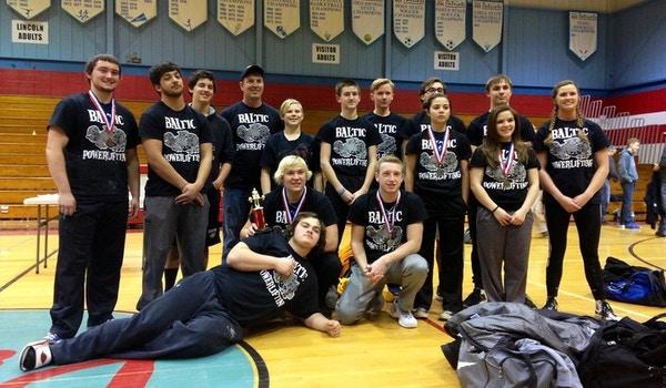 Baltic High School Powerlifting Team T-Shirt Photo