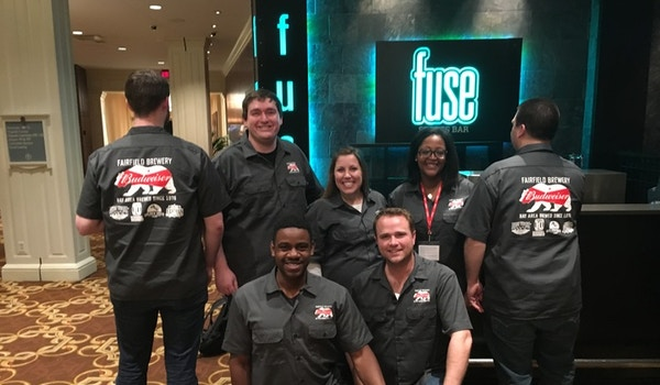 Rockin' Out In Our Custom Work Shirts! T-Shirt Photo