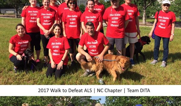 2017 Walk To Defeat Als   Team Dita T-Shirt Photo
