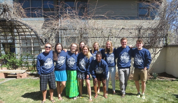 German House Residents Love Their New Pullovers  T-Shirt Photo