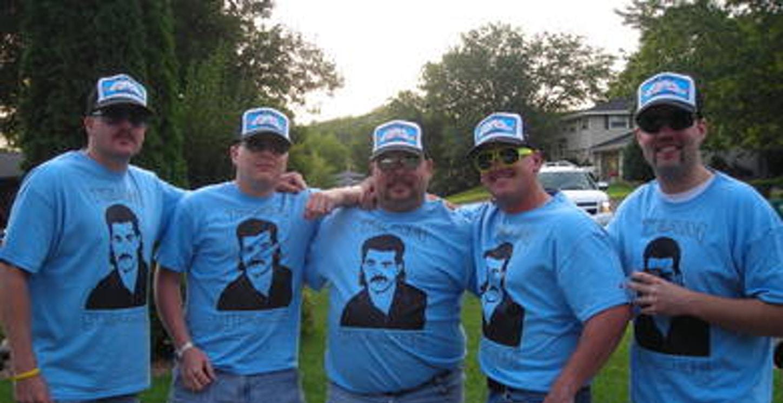 Team Stache Fishing 2009 T-Shirt Photo