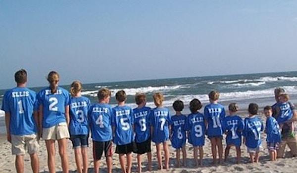 Colorful, 14 Ellis Grandkids  Emerald Isle, Nc 2009 T-Shirt Photo