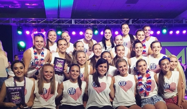 Celebrating A 4th Of July Win At Hall Of Fame Dance Nationals!  T-Shirt Photo