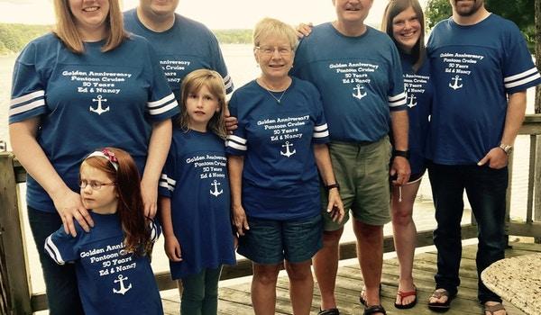 Ed &A Nancy 50th Anniversary Cruise  T-Shirt Photo
