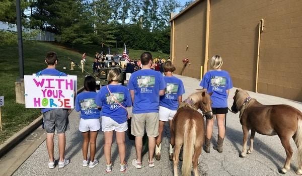 Our Rescue Ponies Walk In Their First Parade! T-Shirt Photo