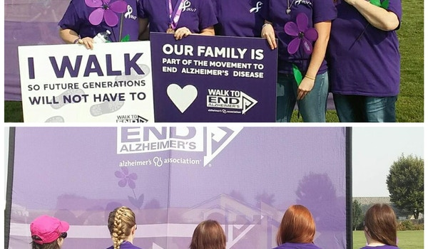 We Fight To End Alzheimers T-Shirt Photo