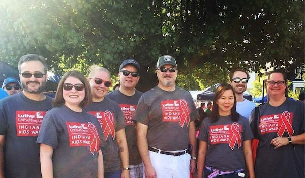 2017 Indiana Aids Walk Team From Luther Consulting, Llc T-Shirt Photo