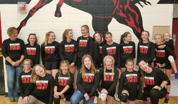 Northport Mustangs Junior High Volleyball Team Are 6 0 On The Season So Far! T-Shirt Photo