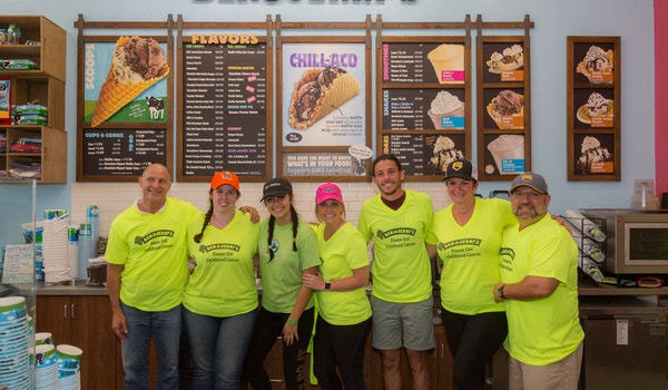 The Team At Advanced Dentistry South Florida Along With Local Celebrities Scooped Ice Cream To Raise Money For Kid's Cancer T-Shirt Photo