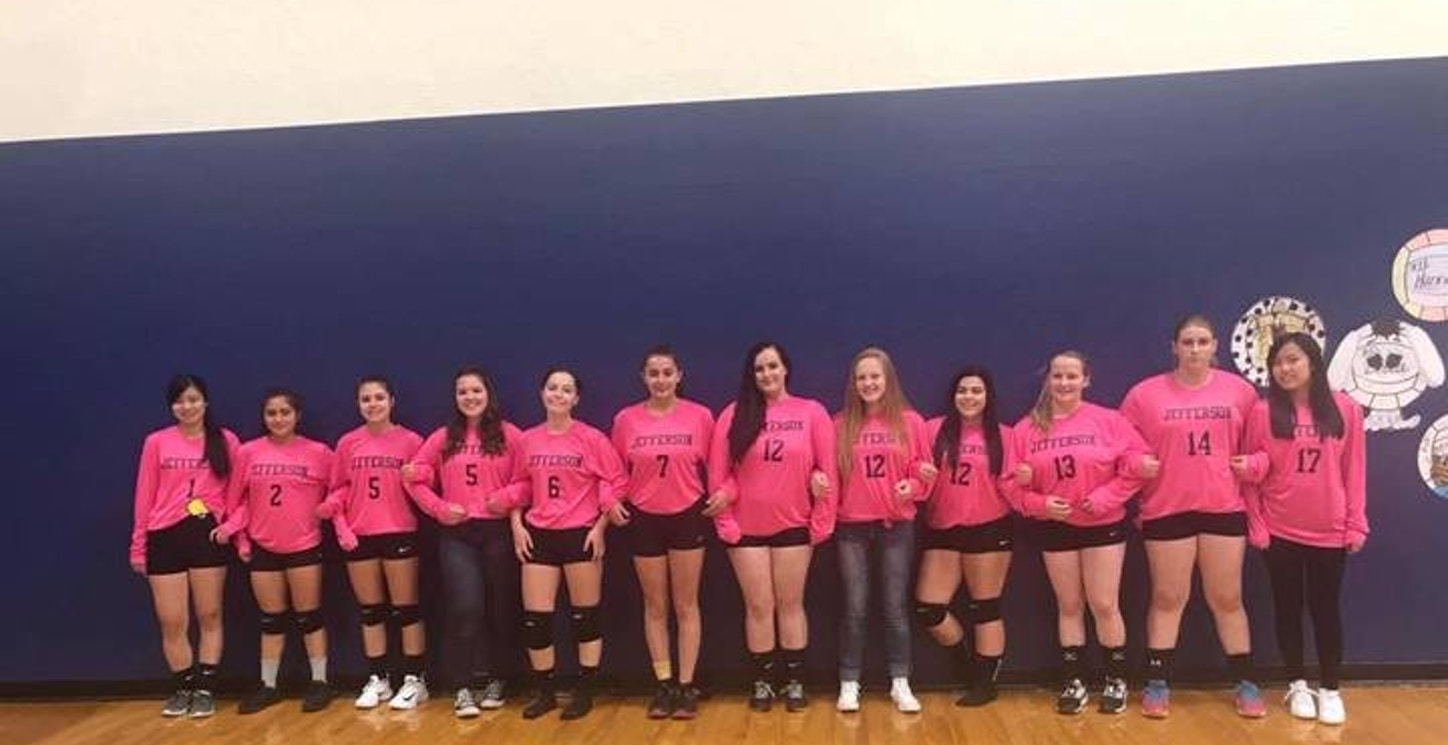 Pink Out Volleyball Game T-Shirt Photo