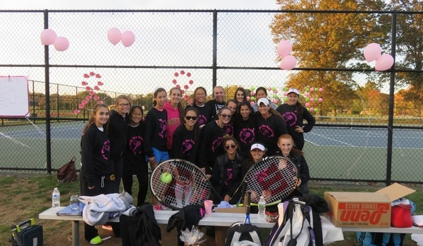 Varsity Tennis Breast Cancer Research Fundraiser T-Shirt Photo
