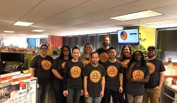 Alarm.Com's Customer Experience Team T-Shirt Photo