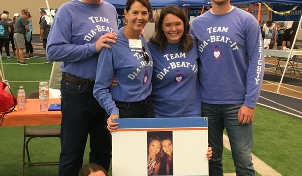 Finding A Cure For Type 1 Diabetes   Team Dia Beat It Jdrf Northeast Ohio One Walk  T-Shirt Photo