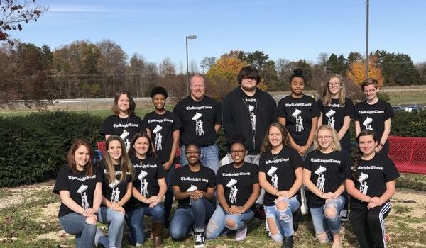 The Newspaper Staff At Spotsylvania High School T-Shirt Photo