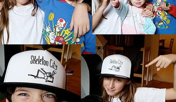 Skeleton City Hats T-Shirt Photo