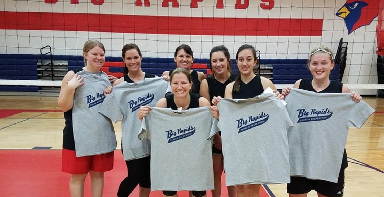 2017 Women's Volleyball Tournament Champions T-Shirt Photo