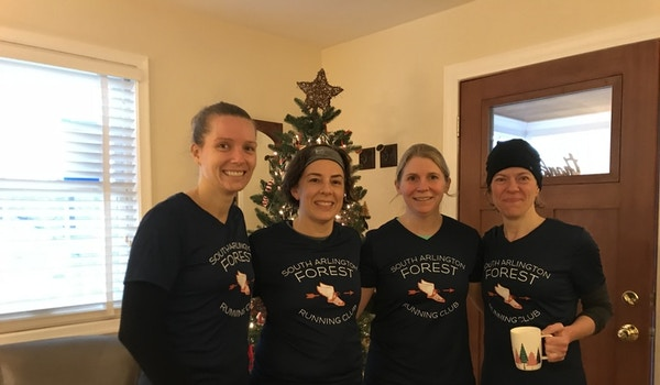 Preping For The South Arlington Running Club Christmas Run With New T's T-Shirt Photo