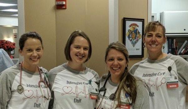 Icu Nurses Hard At Work T-Shirt Photo