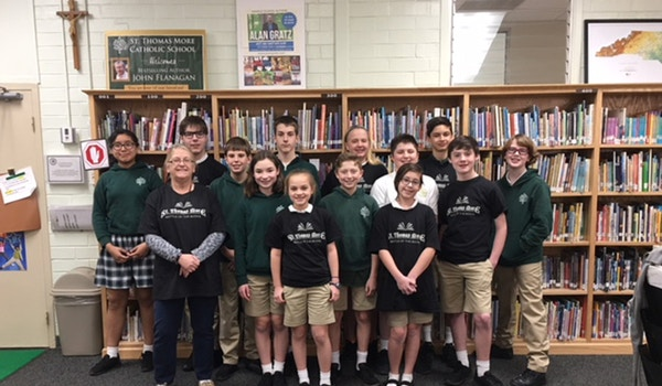 St. Thomas More Battle Of The Books Middle School Group T-Shirt Photo