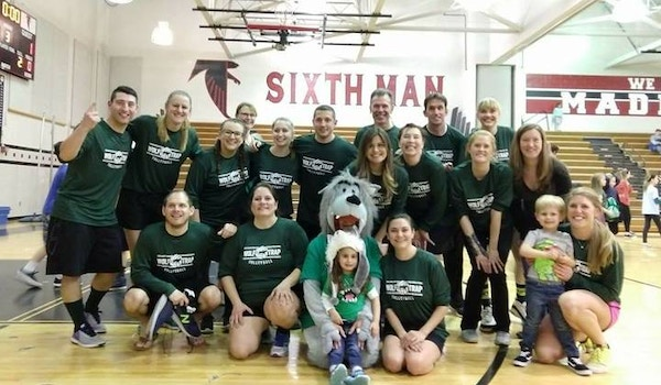 Wolftrap Elementary Faculty Volleyball Team T-Shirt Photo