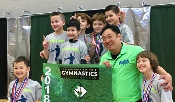 Boys Level 6 Washington State Gymnastics Champions Honoring Coach Pj! T-Shirt Photo