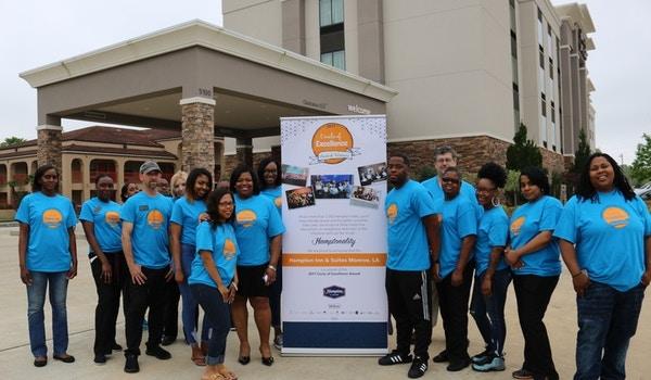 Hampton Inn And Suites Monroe, La  Circle Of Excellence Award Winning Team T-Shirt Photo