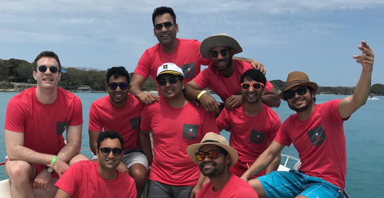 Bachelors At Boat Party T-Shirt Photo