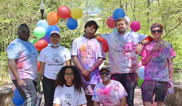 Over The Finish Line   Color Me Fun Run 2018 T-Shirt Photo