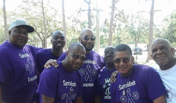Rocking Sarcoidosis Awareness Purple! T-Shirt Photo