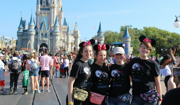 Having A Blast At Disney As Crew Members For A Day Before Our Band Marched In The Parade T-Shirt Photo