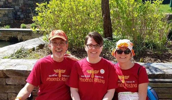 3 Members Of Walk Ms Team 'phoenix Rising' T-Shirt Photo