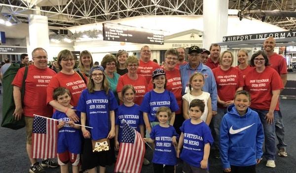 Honor Flight Homecoming T-Shirt Photo