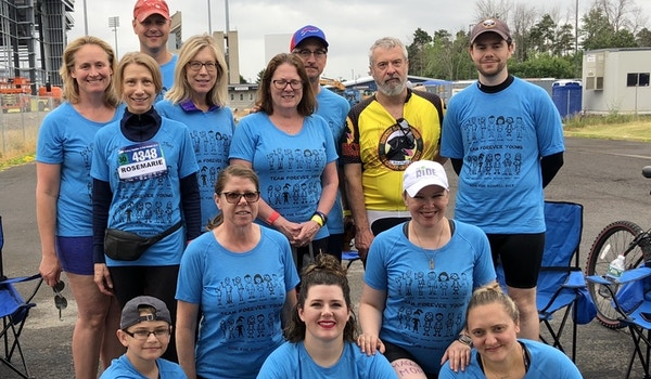 Team Forever Young At The 2018 Ride For Roswell T-Shirt Photo