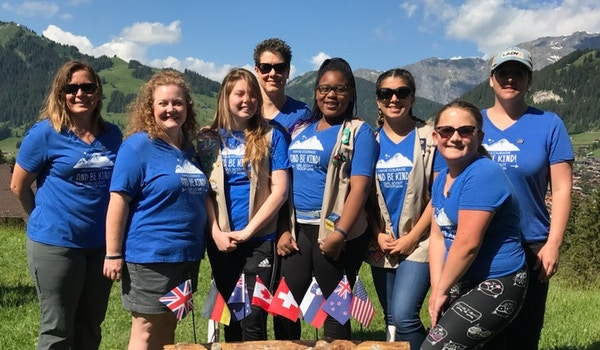 Girl Scouts In Switzerland T-Shirt Photo