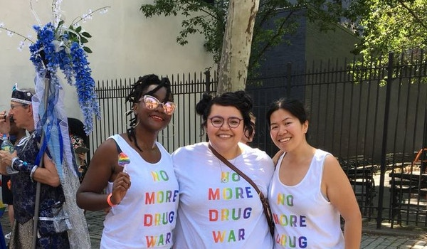 Drug Policy Celebrates Pride March T-Shirt Photo