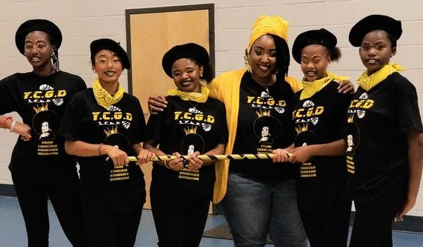 Coach Ms. Mc Queen And Team Captains (Desiree , Ariyah, Destiny, Laliah, Lariyah T-Shirt Photo