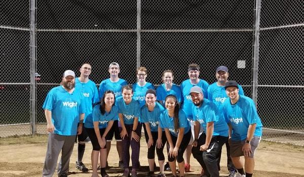 Company Softball Team T-Shirt Photo