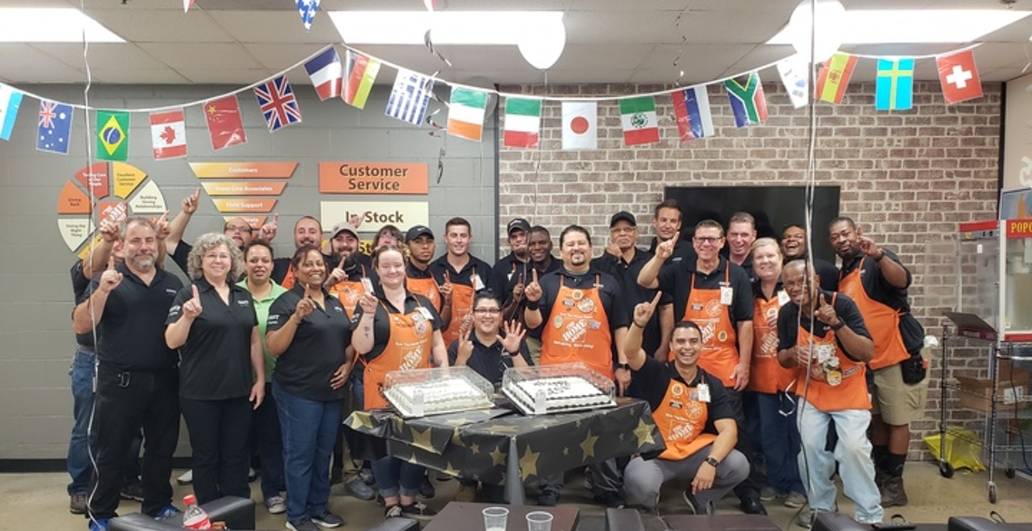 Cake Cutting Ceremony For The Sterling Home Depot 25 Year Anniversary Celebration T-Shirt Photo