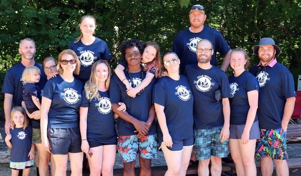 10 Year Anniversary Camping And Rafting T-Shirt Photo