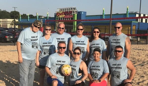 One Hit Wonders Sand Volleyball Team T-Shirt Photo