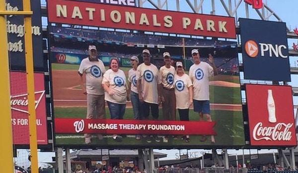 Team Spirit In Washington Dc! Massage Therapy Foundation T-Shirt Photo