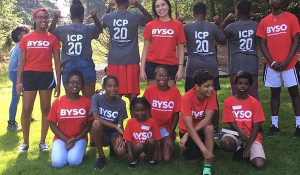 Byso's Intensive Community Program Poses In Their New Tees At Summer Camp T-Shirt Photo
