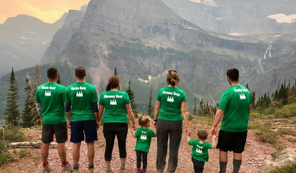 Family That Hikes Together T-Shirt Photo