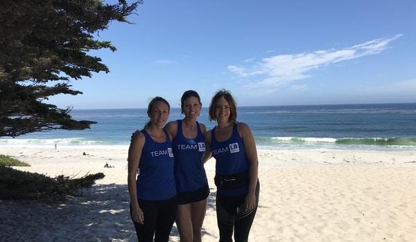 Lewis Builders Trains For Half Marathon On Carmel Beach T-Shirt Photo