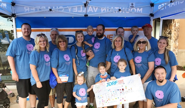 Team Amree   Jdrf One Walk For Type 1 Diabetes Research T-Shirt Photo